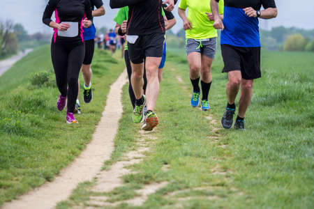 crosscountry: Outdoor marathon cross-country running fitness and healthy lifestyle