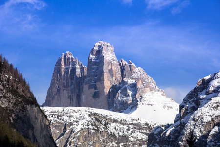 dolomite: Tre Cime di Lavaredo, Dolomite mountains, Italy