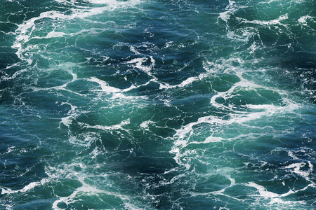 seawater: Turquoise green Seawater with sea foam as seamless background