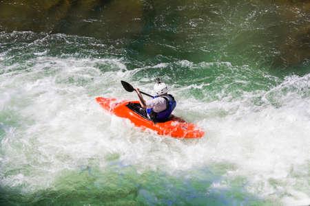white water: Kayaking in white water, blurred motion