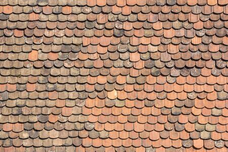 Old tiles roof as texture background Stock Photo