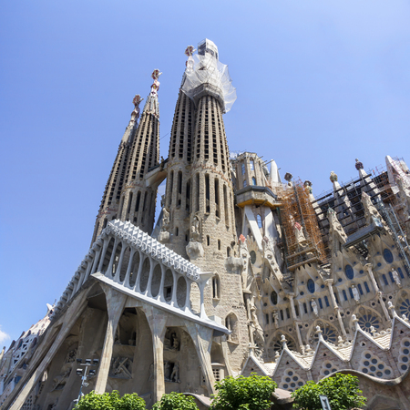 sagrada: Sagrada Familia, Majestic Roman Catholic cathedral in Barcelona, Spain