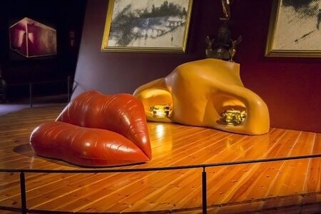 salvador dali: FIGUERAS, SPAIN - JUNE 25, 2016: Details from Dalis Museum, on June 25, 2016 in Figueras, Catalunya, Spain. In Museum is it the largest collection of works by Salvador Dali.