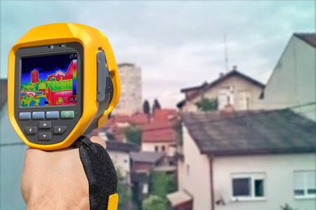 thermogram: Recording Heat Loss at the Residential Building With Infrared Thermal Camera