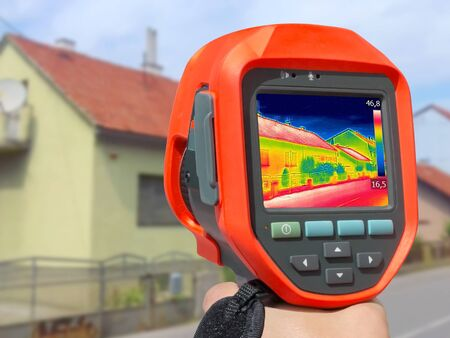 thermal imaging: Recording Heat Loss at the House With Infrared Thermal Camera
