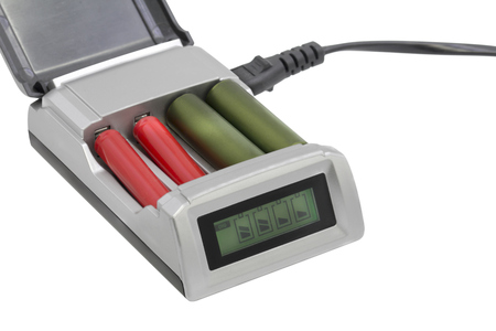 AA AAA Smart Battery charger on white background
