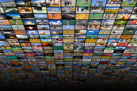 Giant multimedia widescreen video and image walls