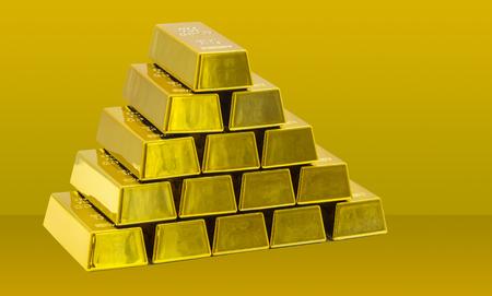 Stack of golden bars as a Financial concepts Reklamní fotografie