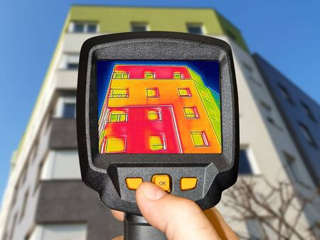Recording Heat Loss at the Residential building with a thermal camera