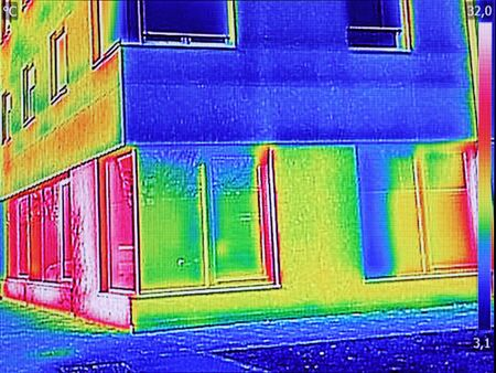Thermal image Heat Loss at the Residential building