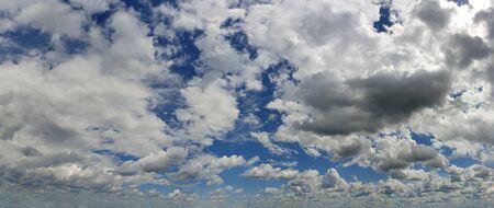 Blue sky background with white clouds panorama Zdjęcie Seryjne