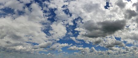 Blue sky background with white clouds panorama