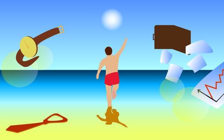 Man Run On The Beach