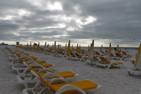 Ruined vacation rainy days in Clearwater beach Florida Banque d'images - 115820804