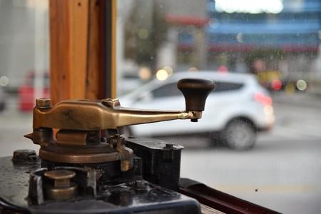 Tram motor lever arm Banque d'images - 115820809