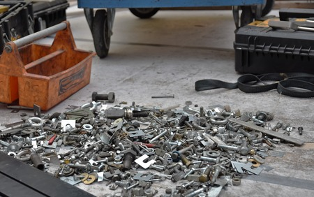 Hundreds of nuts of bolts needed for repair Banque d'images - 118387538
