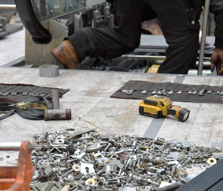 Hundreds of nuts of bolts needed for repair Banque d'images - 118387539