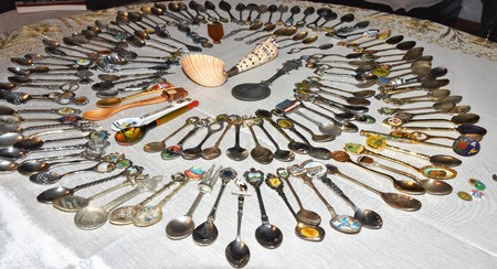 Aerial view of a Spoon Collection a common hobby Banque d'images - 118387571