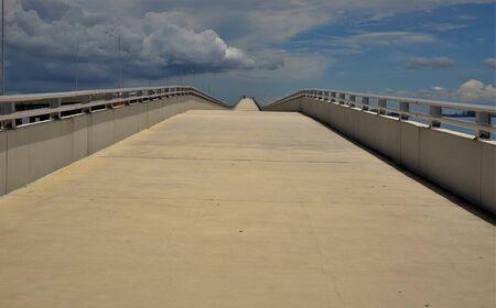 Tampa Bays pedestrian bridges appear endless Stock Photo