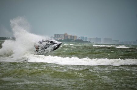 Joy of Jet Skiing during a storm