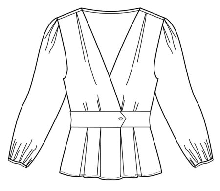 Flat Fashion Sketches: Apparel Template, vector blouse, t-shirt