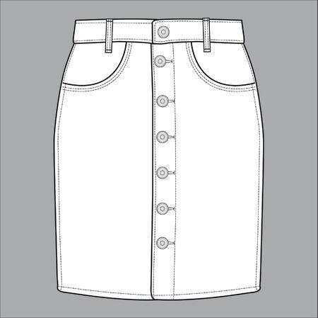 skirt, apparel templates