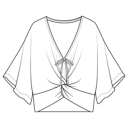 Blouse Royalty Free Vector Image - Vector, lace up blouse