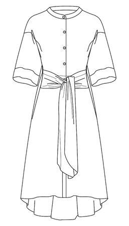 Dress, apparel template, vector