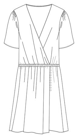 Dress template, Flat Fashion Sketches, apparel templates Illustration