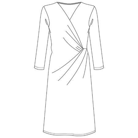 Dress, Flat Fashion Sketches, apparel templates Illustration