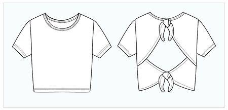 crop top, apparel template