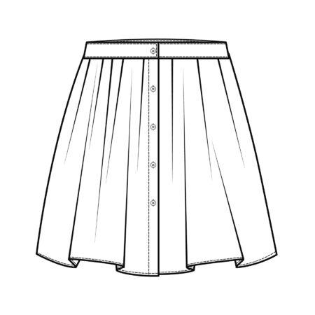 Skirt flat sketch template Vecteurs
