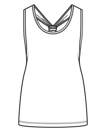 Top Fashion Flat Sketch Template