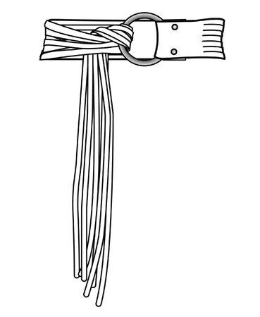 BELT, fashion flat sketch vector