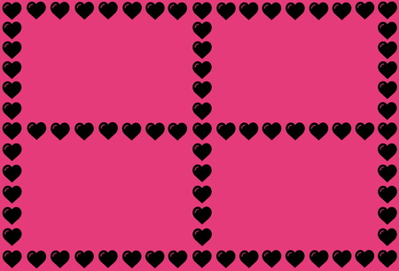 Black Heart Shape on Pink Background. Hearts Dot Design. Can be used for Articles, Printing, Illustration purpose, background, website, businesses, presentations, Product Promotions etc. Stock fotó