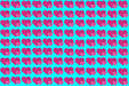 Pink Heart Shape on Blue Background. Hearts Dot Design. Can be used for Articles, Printing, Illustration purpose, background, website, businesses, presentations, Product Promotions etc.