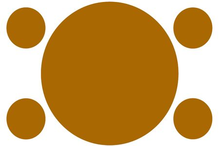 Circular Colored Banners - Orange Circles. Can be used for Illustration purpose, background, website, businesses, presentations, Product Promotions etc. Empty Circles for Text, Data Placement. Stockfoto