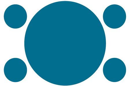 Circular Colored Banners - Blue Circles. Can be used for Illustration purpose, background, website, businesses, presentations, Product Promotions etc. Empty Circles for Text, Data Placement. Stockfoto