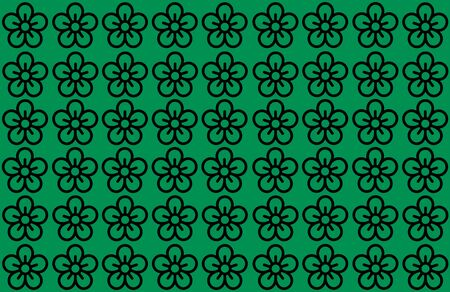 Flower Pattern with Green Background. Petals Design spread over clear background. Use Articles, Printing, Illustration, background, website, businesses, presentations, Product Promotions. Stockfoto