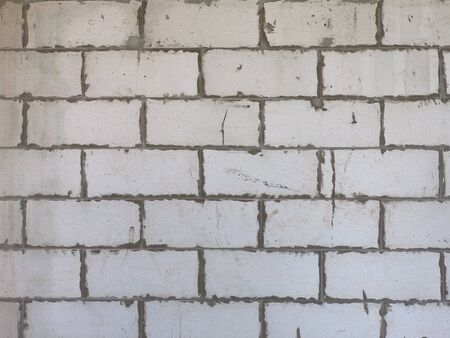 Cinder Block Wall made with concrete blocks. concrete blocks wall crack with rough surface Stockfoto