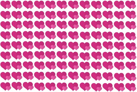 Pink Heart Shape on White Background. Hearts Dot Design. Can be used for Articles, Printing, Illustration purpose, background, website, businesses, presentations, Product Promotions etc. Stockfoto