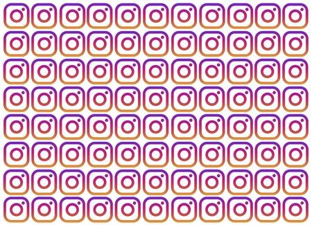 Dubai, UAE,March 2019 - Popular social media - Multiple Instagram Logo spread on white background. Background, template, web design, frame, business report.