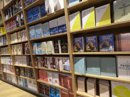 Dubai UAE May 2019 - Books displayed at a library, book store. Wide Variety Of Books For Sale.