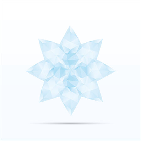Polygon blue flower l Vector