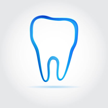 Blue vector tooth dental icon  Vector