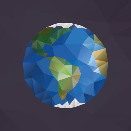 icosahedron: Earth globe made with triangles