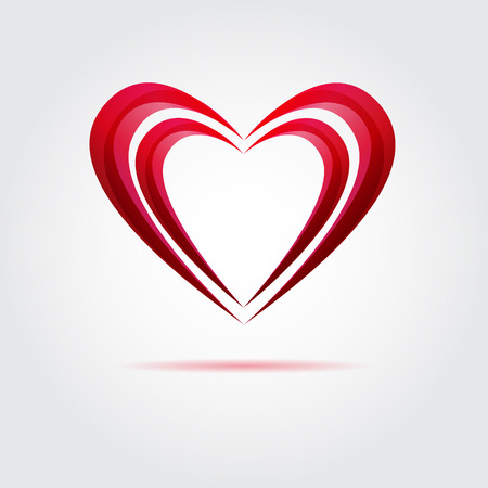 Abstract red vector heart Illustration