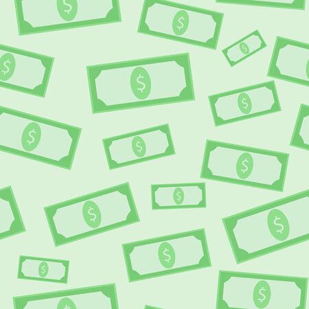 Green dollars seamless pattern Stock Vector - 29880148