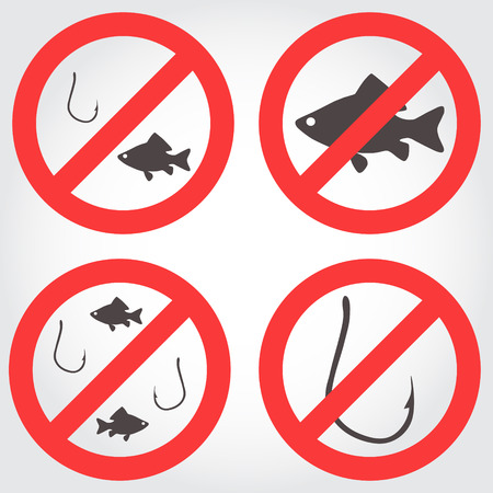 No fishing vector icons Vector