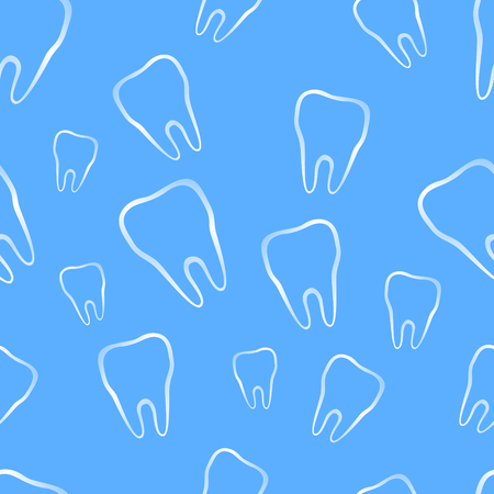 dental hygienist: Seamless pattern with tooth